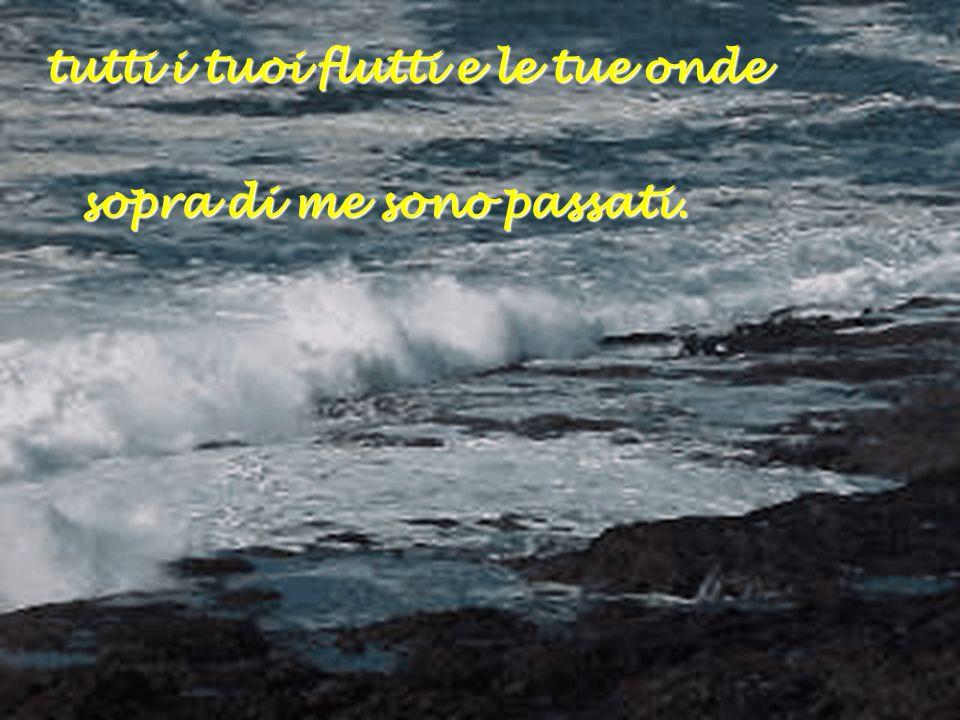 tutti i tuoi flutti e le tue onde sopra di me sono passati. sopra di me sono passati.