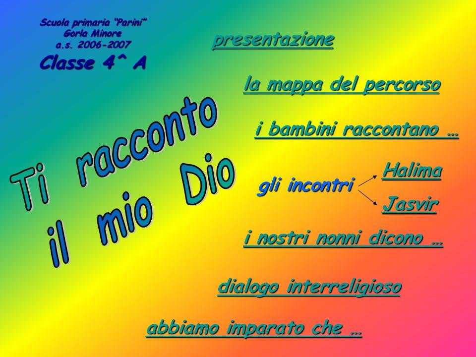 presentazione i bambini raccontano … i bambini raccontano … Scuola primaria Parini Gorla Minore a.s. 2006-2007 Classe 4^ A la mappa del percorso la ma