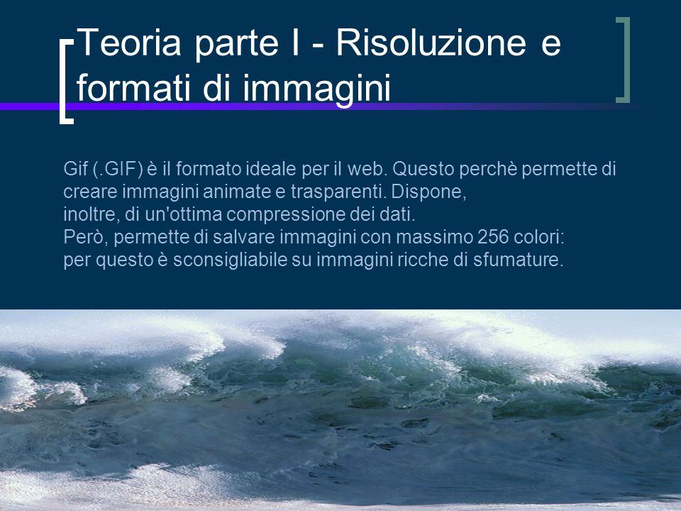 Gif (.GIF) è il formato ideale per il web.