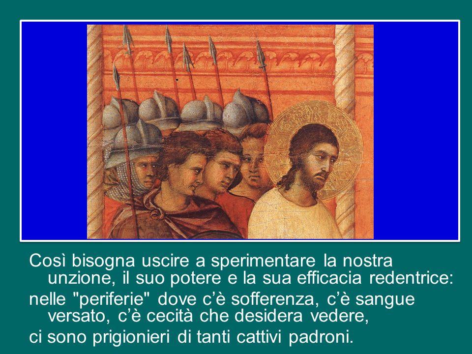 Gli stessi discepoli – futuri sacerdoti – tuttavia non riescono a vedere, non comprendono: nella
