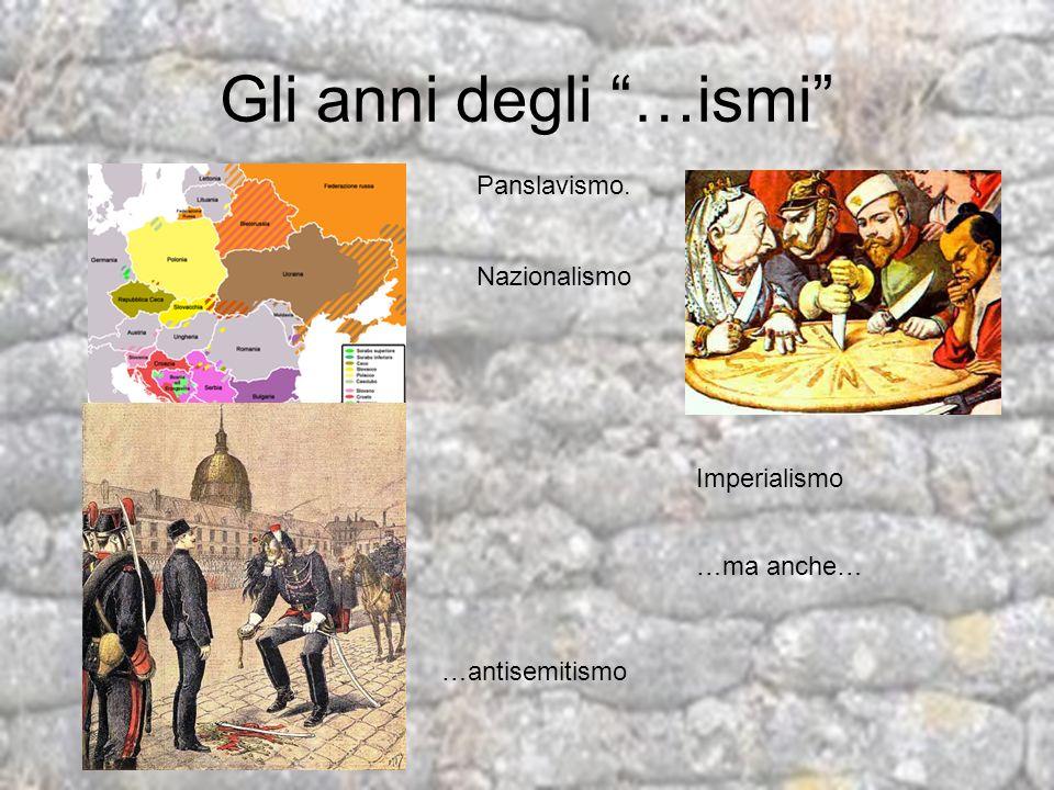 Le cause: tensioni internazionali RussiaControllo nei Balcani SerbiaRiunificazione etnica Impero Ottomano Ripresa del controllo mediterrano FranciaRivendicazione di Alsazia e Lorena Gran Bretagna Arginare limperialismo tedesco