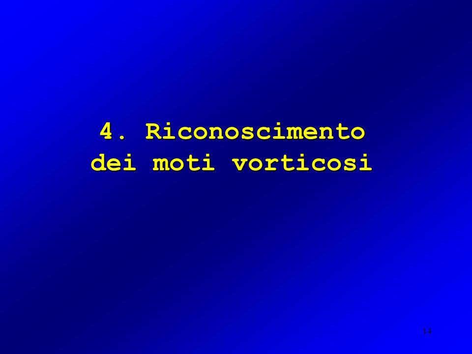 14 4. Riconoscimento dei moti vorticosi