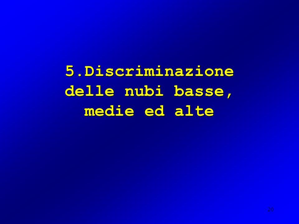 20 5.Discriminazione delle nubi basse, medie ed alte