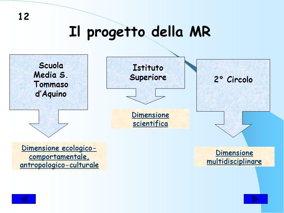 MISSION del progetto di MR LA SCUOLA COME CENTRO PROPULSORE DEL CAMBIAMENTO DEL TERRITORIO 11