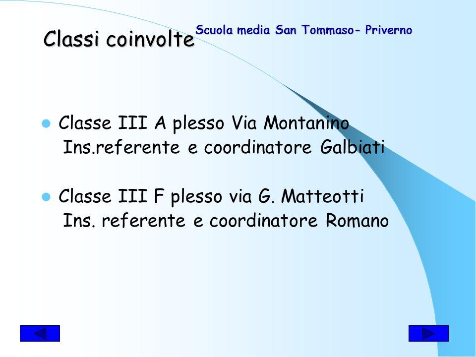Dimensione ecologico- comportamentale e antropologico - culturale Scuola Media S. Tommaso