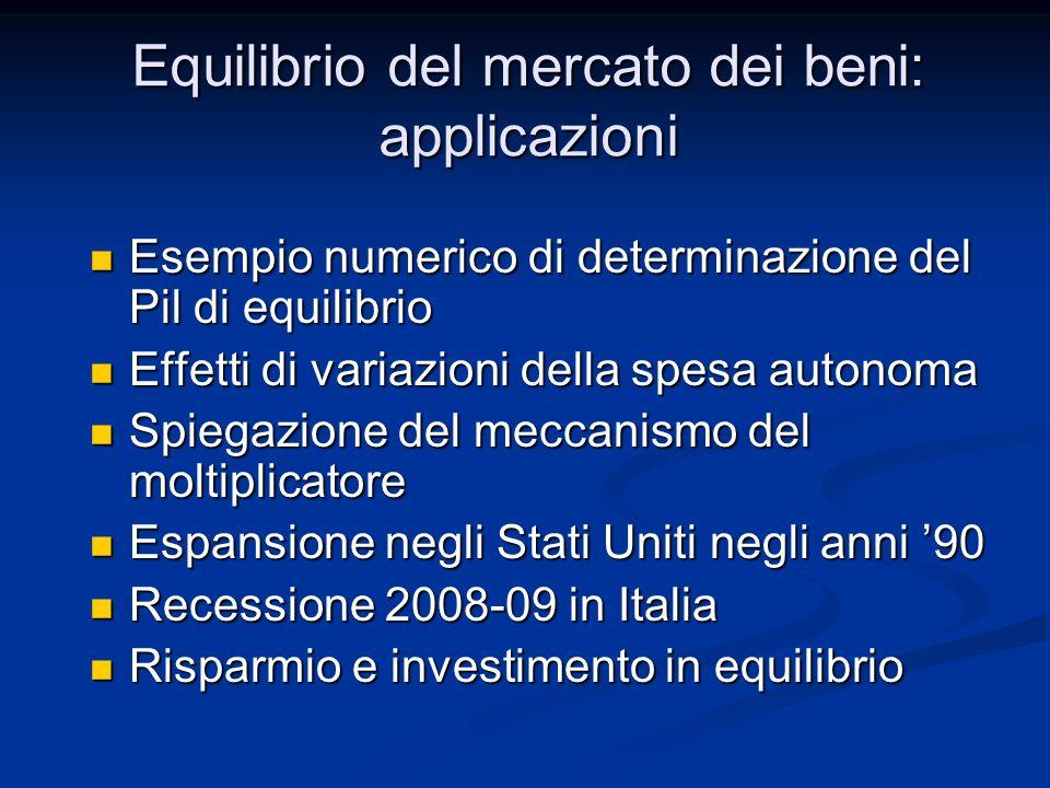Recessione nel 2008-2009 Le dinamiche di consumi e investimenti spiegano dunque la dinamica del Pil Le dinamiche di consumi e investimenti spiegano dunque la dinamica del Pil ITALIA200720082009 Pil1,6%-1,3%-5,1% Consumi1,6%-0,4%-1,2% Investimenti1,3%-4%-12,1%