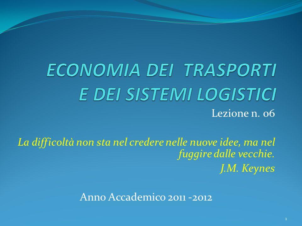 Lezione n. 06 La difficoltà non sta nel credere nelle nuove idee, ma nel fuggire dalle vecchie. J.M. Keynes Anno Accademico 2011 -2012 1