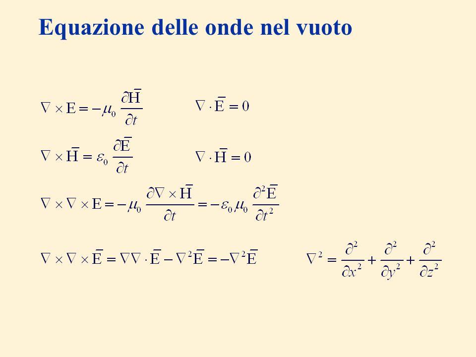 Equazione delle onde nel vuoto