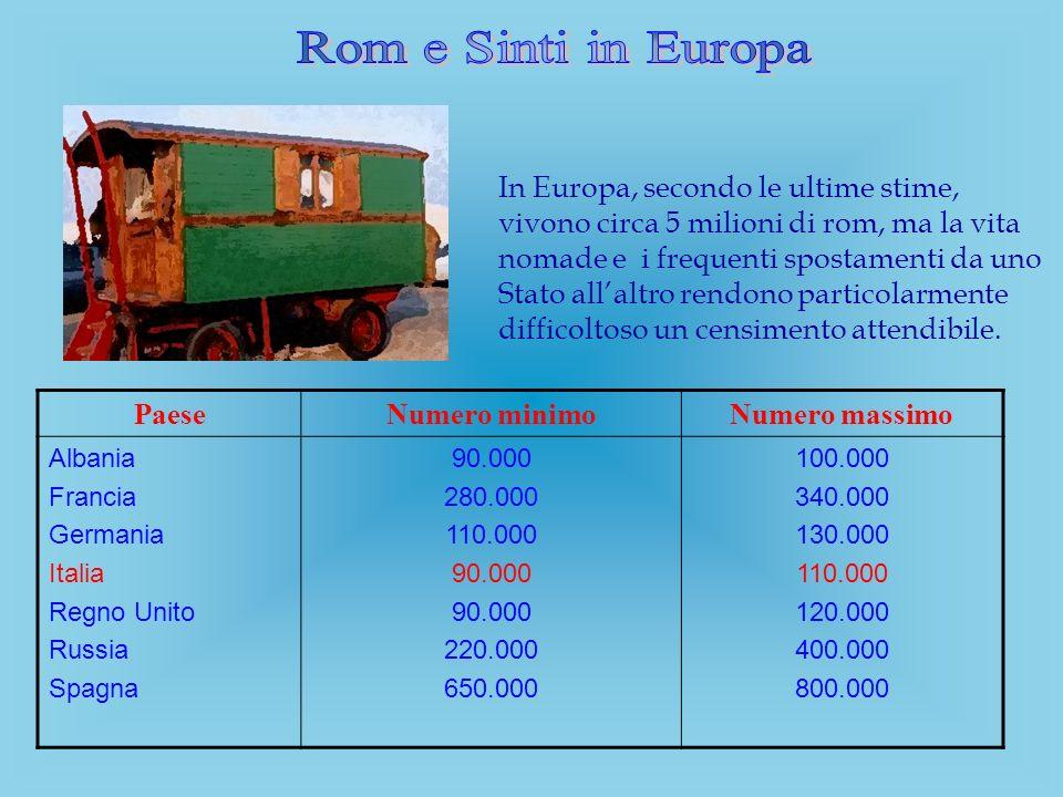 In Europa, secondo le ultime stime, vivono circa 5 milioni di rom, ma la vita nomade e i frequenti spostamenti da uno Stato allaltro rendono particola