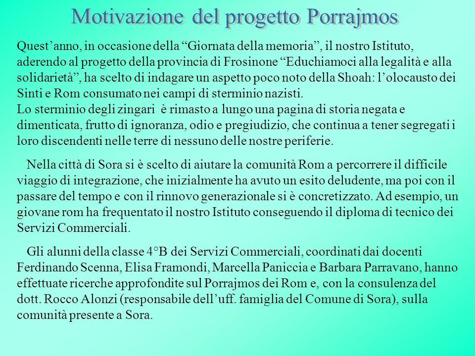 Questanno, in occasione della Giornata della memoria, il nostro Istituto, aderendo al progetto della provincia di Frosinone Educhiamoci alla legalità