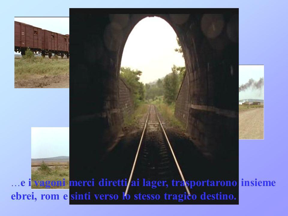 … e i vagoni merci diretti ai lager, trasportarono insieme ebrei, rom e sinti verso lo stesso tragico destino.