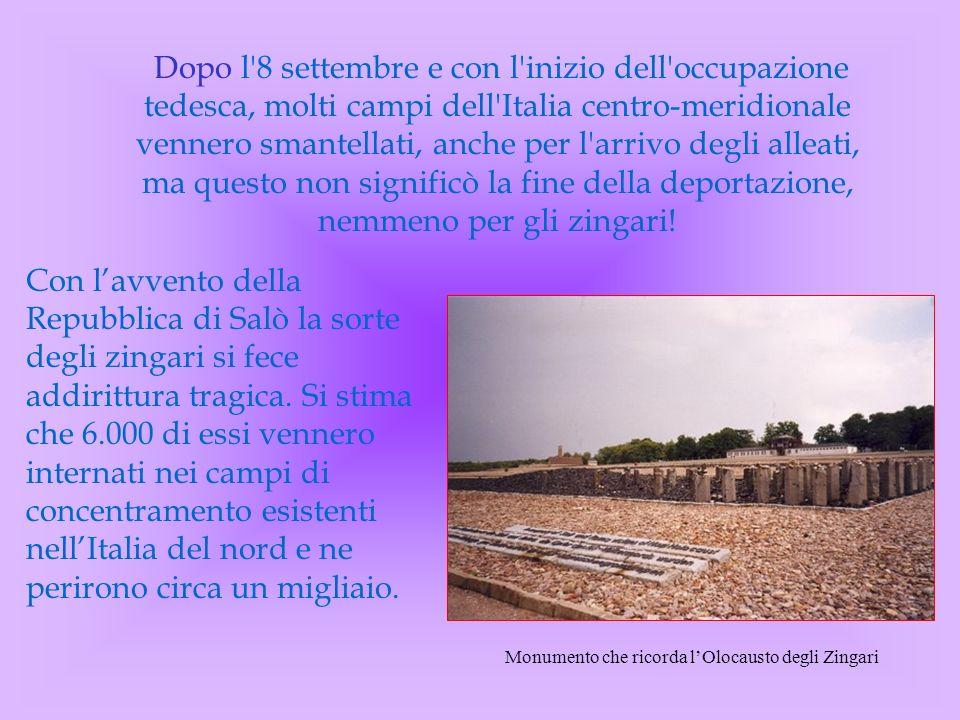 Dopo l'8 settembre e con l'inizio dell'occupazione tedesca, molti campi dell'Italia centro-meridionale vennero smantellati, anche per l'arrivo degli a