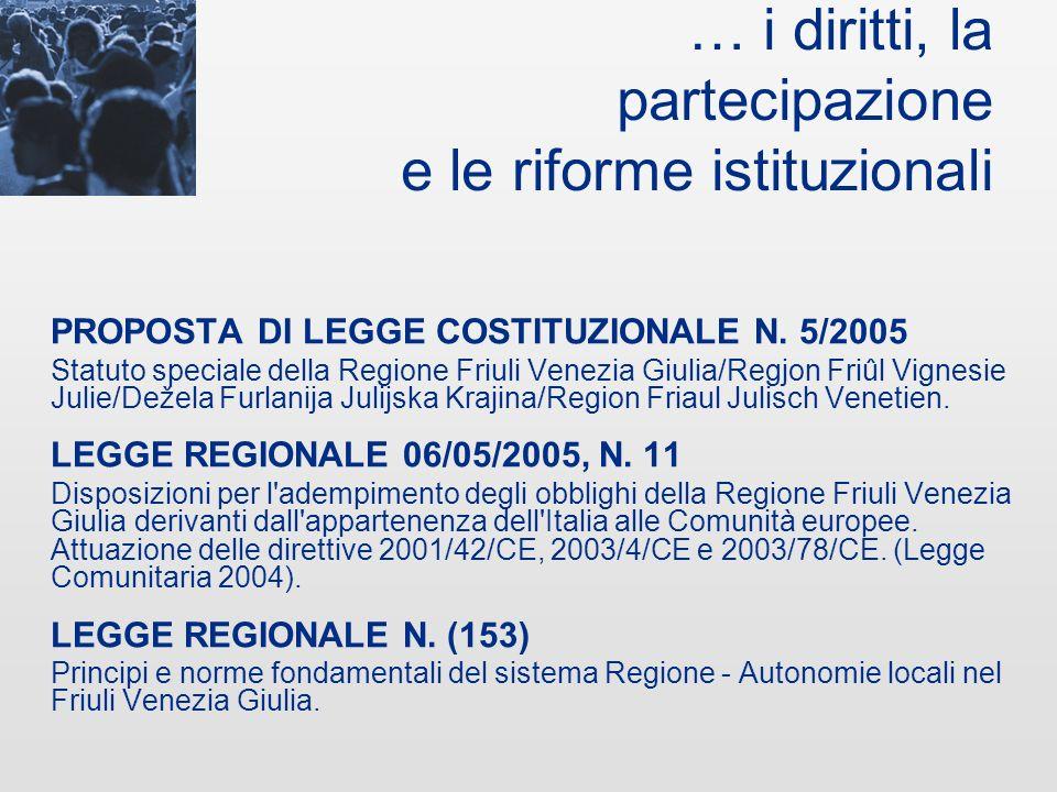 … lambiente e la qualità della vita LEGGE REGIONALE 29/04/2005, N. 9 Norme regionali per la tutela dei prati stabili naturali. LEGGE REGIONALE 23/06/2