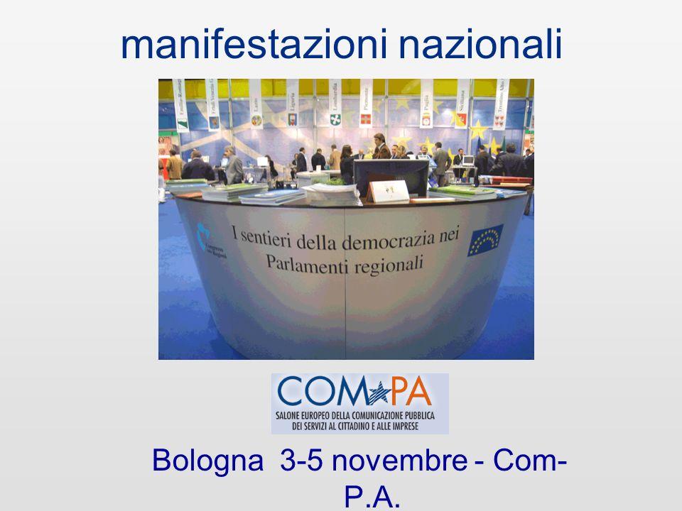 manifestazioni nazionali Roma 9-13 maggio - Forum P.A.