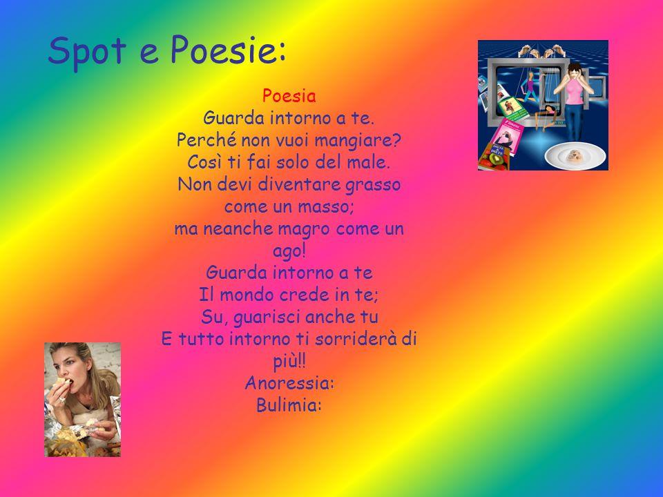 Spot e Poesie: Poesia Guarda intorno a te. Perché non vuoi mangiare? Così ti fai solo del male. Non devi diventare grasso come un masso; ma neanche ma