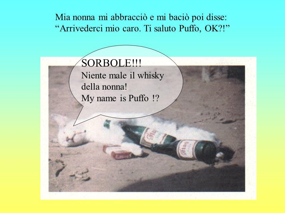 SORBOLE!!. Niente male il whisky della nonna. My name is Puffo !.