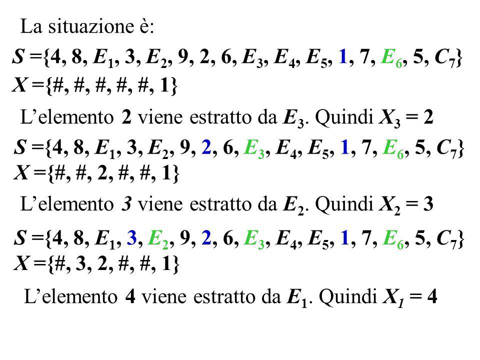 Lelemento 2 viene estratto da E 3.