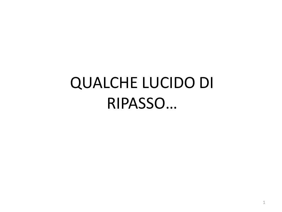 QUALCHE LUCIDO DI RIPASSO… 1