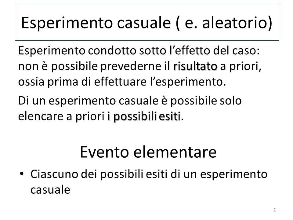 Esperimento casuale ( e.