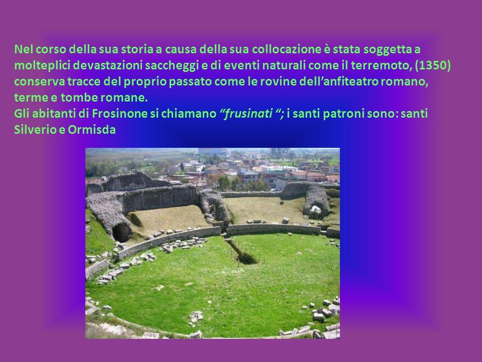 Nel corso della sua storia a causa della sua collocazione è stata soggetta a molteplici devastazioni saccheggi e di eventi naturali come il terremoto, (1350) conserva tracce del proprio passato come le rovine dellanfiteatro romano, terme e tombe romane.
