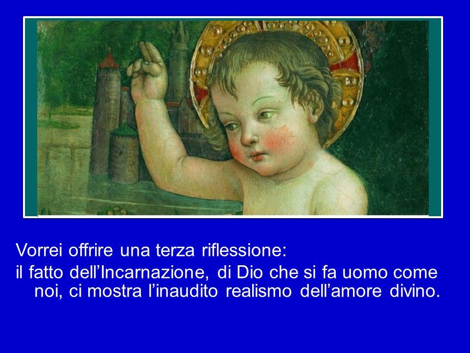 Il mistero dellIncarnazione sta ad indicare che Dio non ha fatto così: non ha donato qualcosa, ma ha donato se stesso nel suo Figlio Unigenito. Trovia