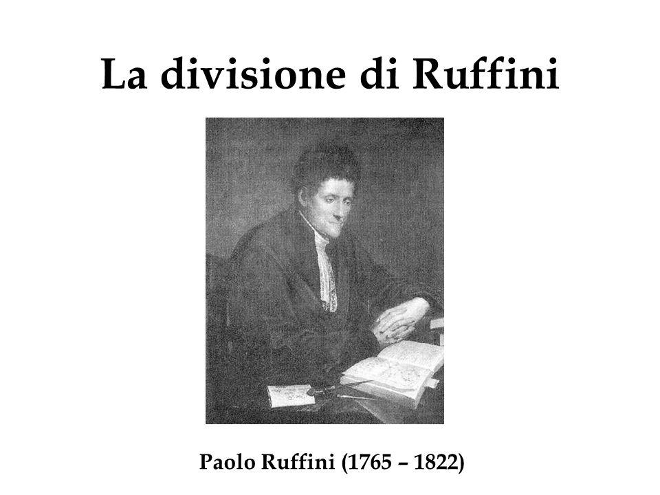 La divisione di Ruffini Paolo Ruffini (1765 – 1822)