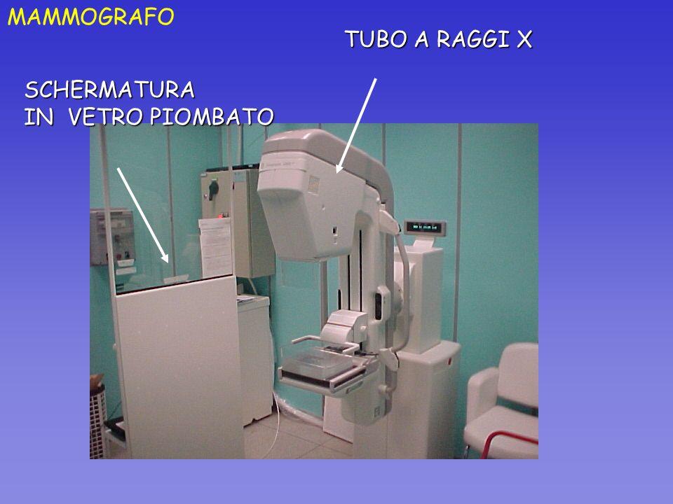MAMMOGRAFO TUBO A RAGGI X SCHERMATURA IN VETRO PIOMBATO