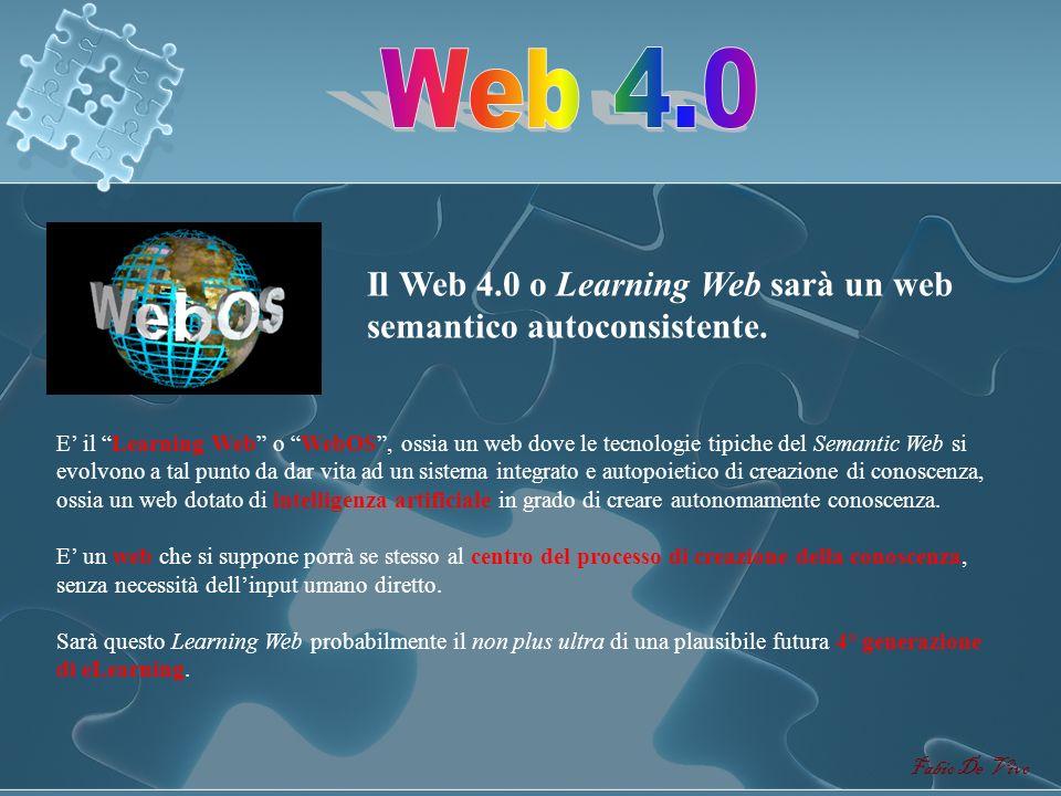 Fabio De Vivo Da un web mono-direzionale (Web 1.0) ad un web pluri-direzionale (Web 2.0) al web semanticamente direzionale (Web 3.0) = relazioni uni-d