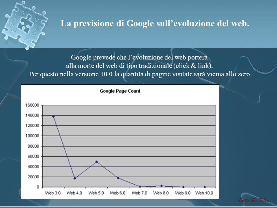 Fabio De Vivo WEB 1.0 WEB 2.0 WEB 3.0 WEB 4.0 WEB X.0 Comparando le due piramidi notiamo come levoluzione del web sta portando lutente da un apprendim