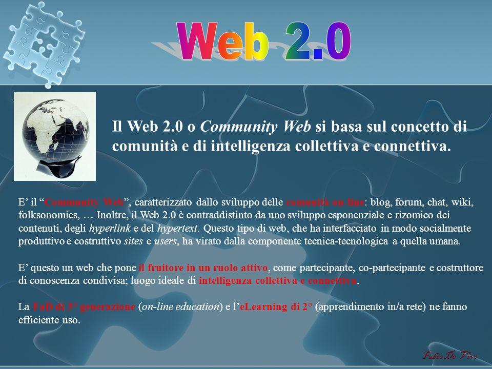 Fabio De Vivo Il Web 1.0 o CGI Web è il web tradizionale così come tutti noi lo conosciamo. E il CGI Web basato sul Common Gateway Interface, un proto