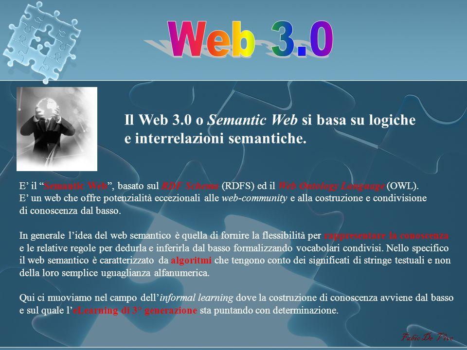 Fabio De Vivo Da un web statico di sola lettura (Web 1.0) a un web dinamico di lettura e scrittura (Web 2.0) Evoluzione delle applicazioni. Dinamicità