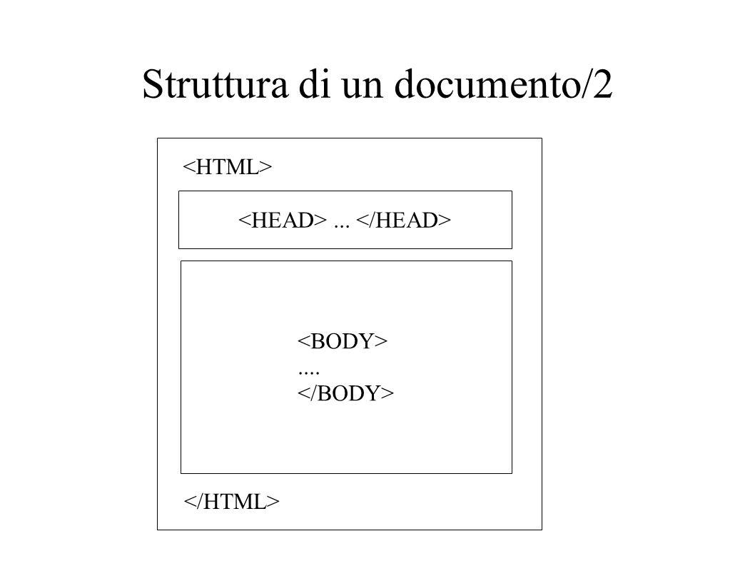 Struttura di un documento/2.......