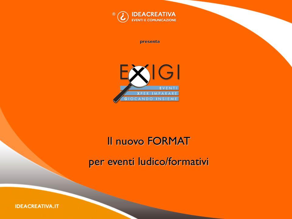 presenta Il nuovo FORMAT per eventi ludico/formativi