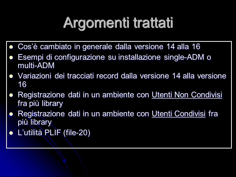 Argomenti trattati Cosè cambiato in generale dalla versione 14 alla 16 Cosè cambiato in generale dalla versione 14 alla 16 Esempi di configurazione su