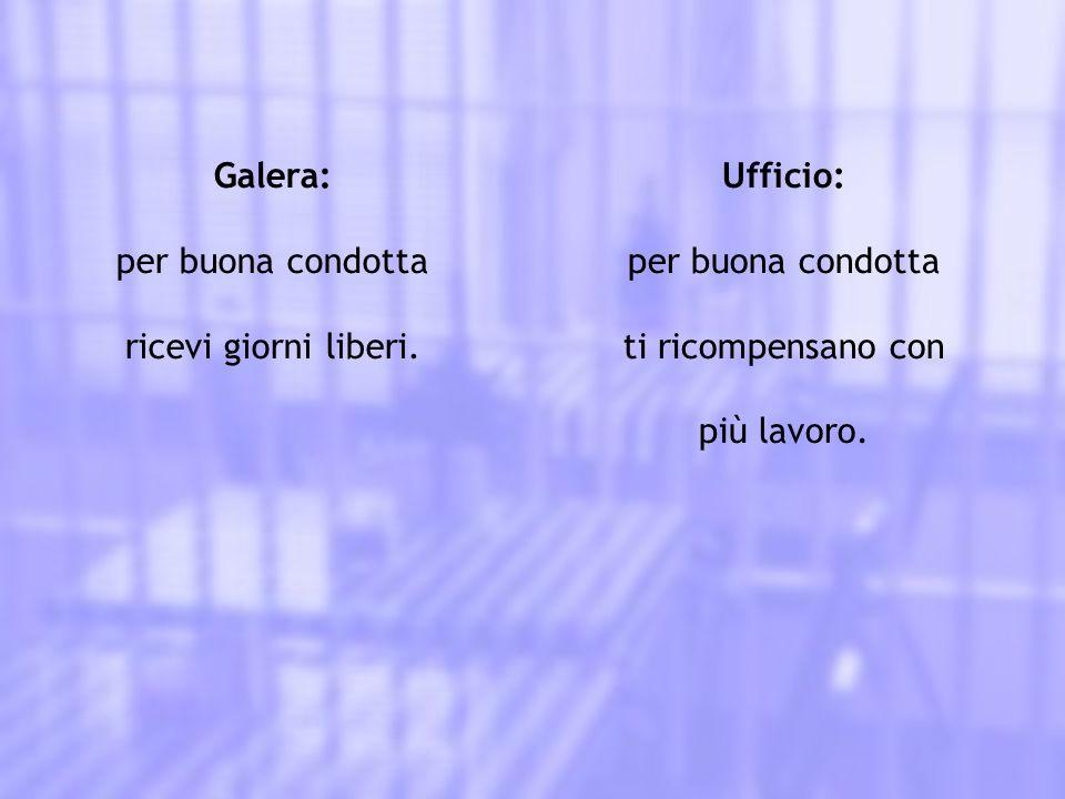 Galera: il sorvegliante apre e chiude tutte le porte per te.
