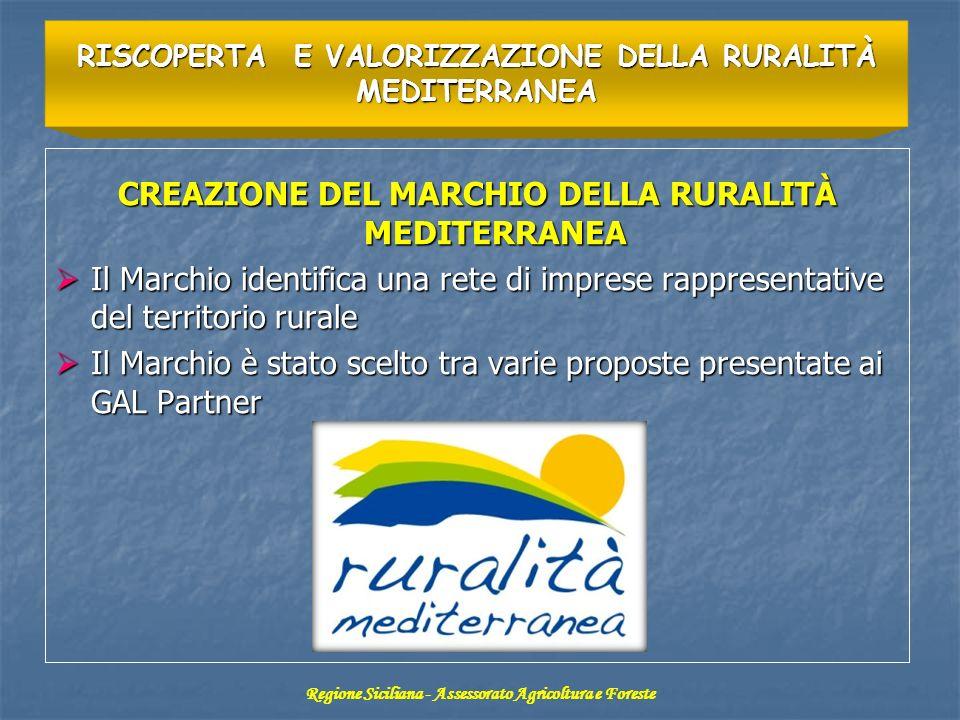 CREAZIONE DEL MARCHIO DELLA RURALITÀ MEDITERRANEA Il Marchio identifica una rete di imprese rappresentative del territorio rurale Il Marchio identific