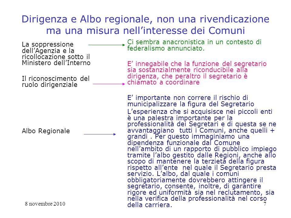 8 novembre 20108 Proposta di modifica art.97 segue 4.