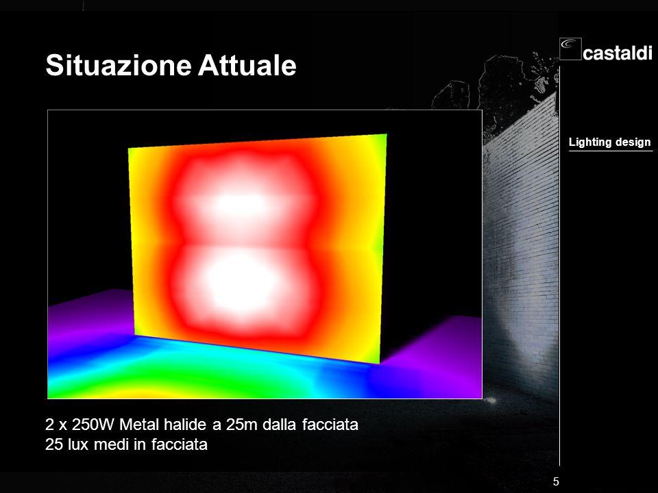 Lighting design 16 Il presente progetto/training non può essere riprodotto neppure parzialmente.