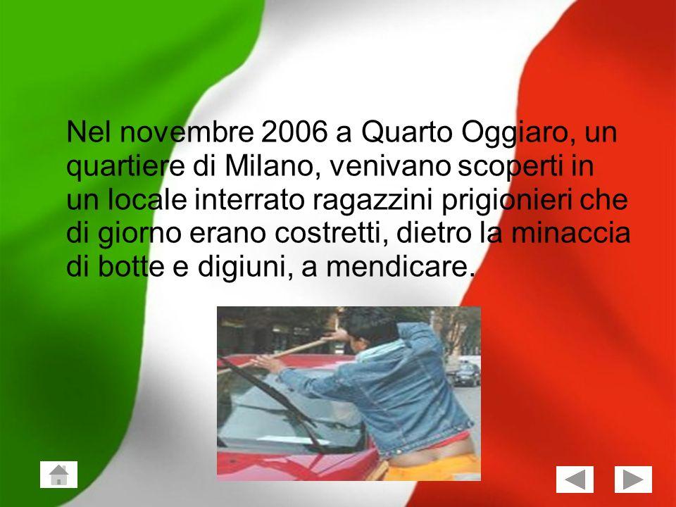 Giuseppe Vailati; Stefano Frezza Classe 2^X 5 Nel novembre 2006 a Quarto Oggiaro, un quartiere di Milano, venivano scoperti in un locale interrato rag