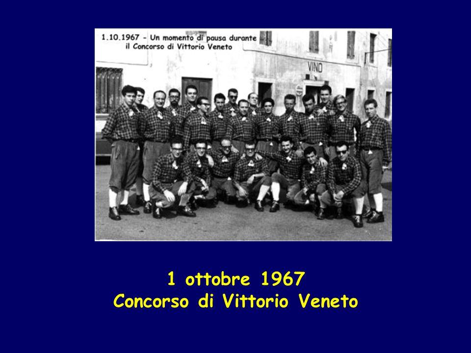 1 ottobre 1967 Concorso di Vittorio Veneto