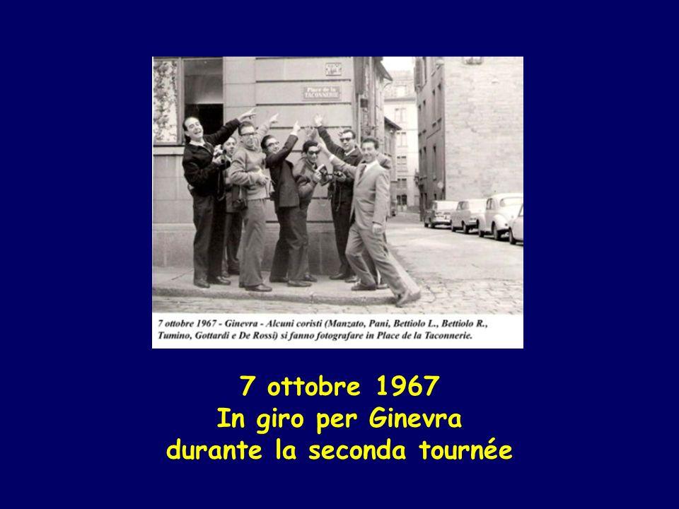 7 ottobre 1967 In giro per Ginevra durante la seconda tournée