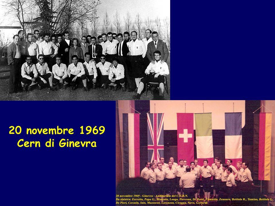 20 novembre 1969 Cern di Ginevra