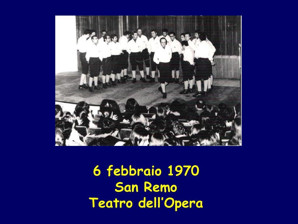 6 febbraio 1970 San Remo Teatro dellOpera