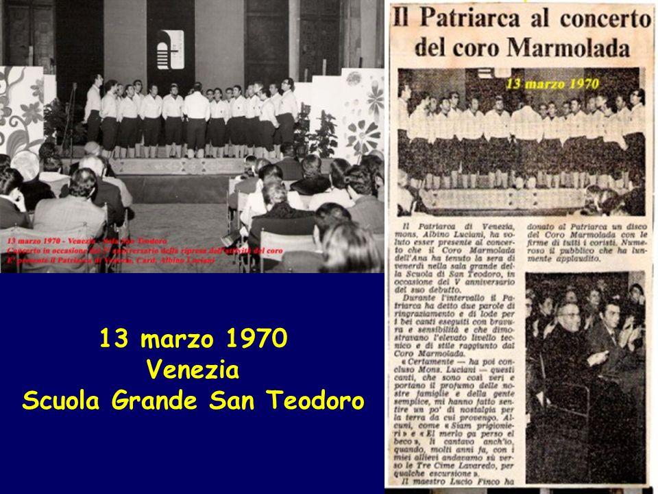13 marzo 1970 Venezia Scuola Grande San Teodoro
