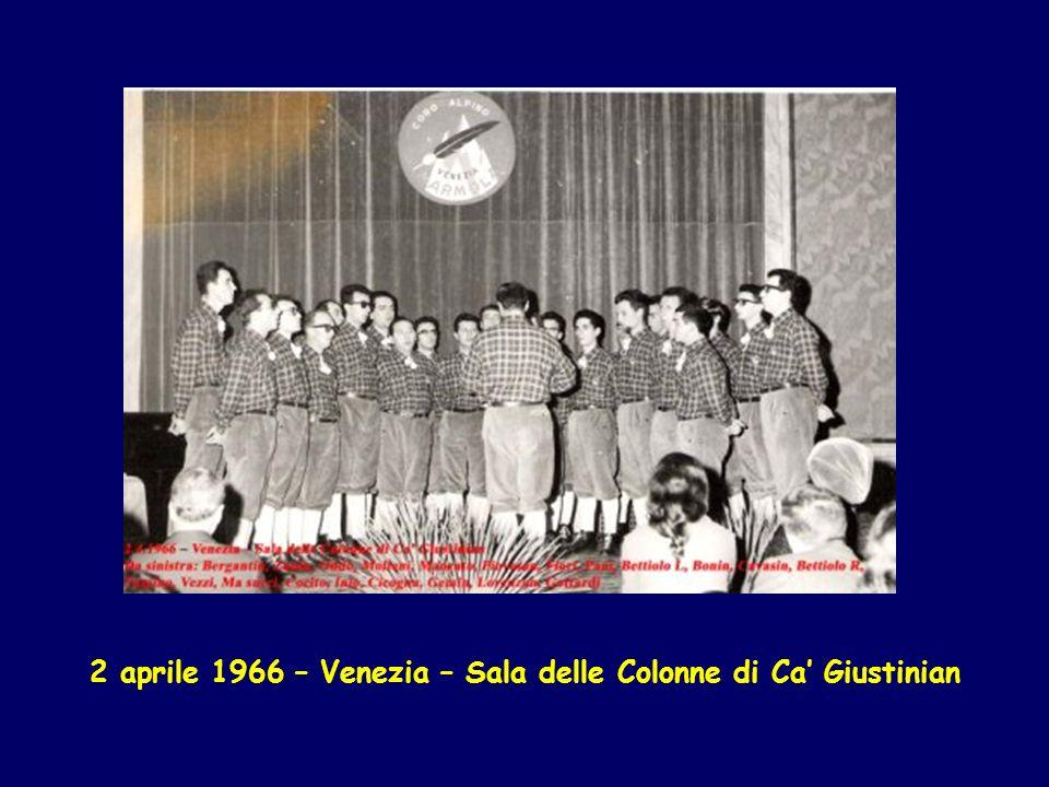 12 giugno 1966 – Gita del coro al Sass Pordoi