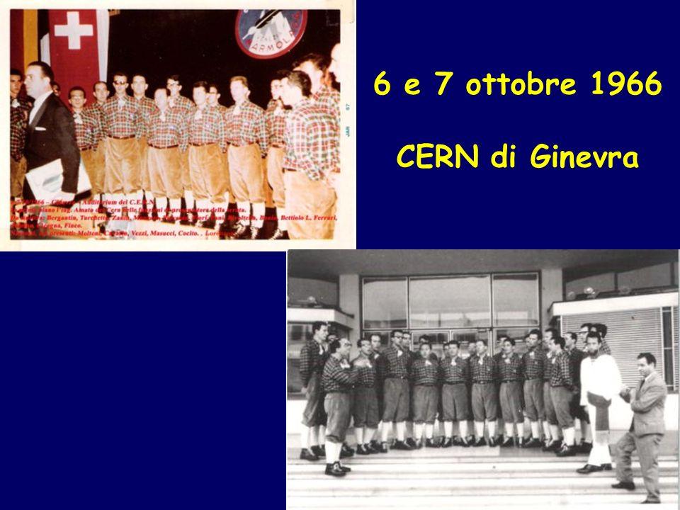 6 e 7 ottobre 1966 CERN di Ginevra