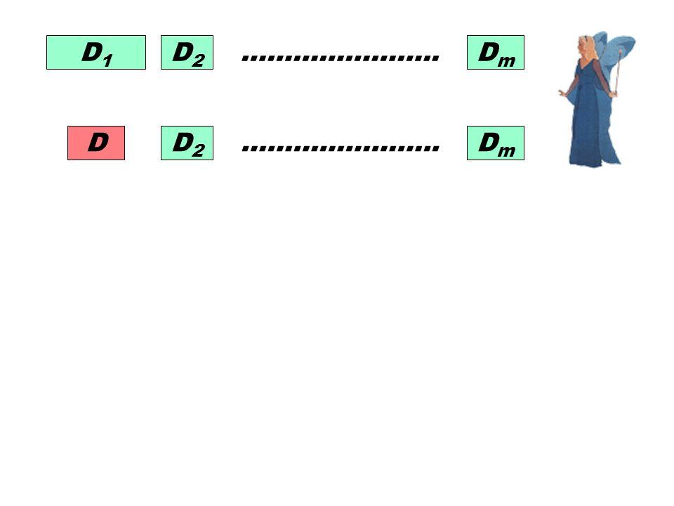 D1D1 D2D2 DmDm ………………….. D2D2 DmDm D