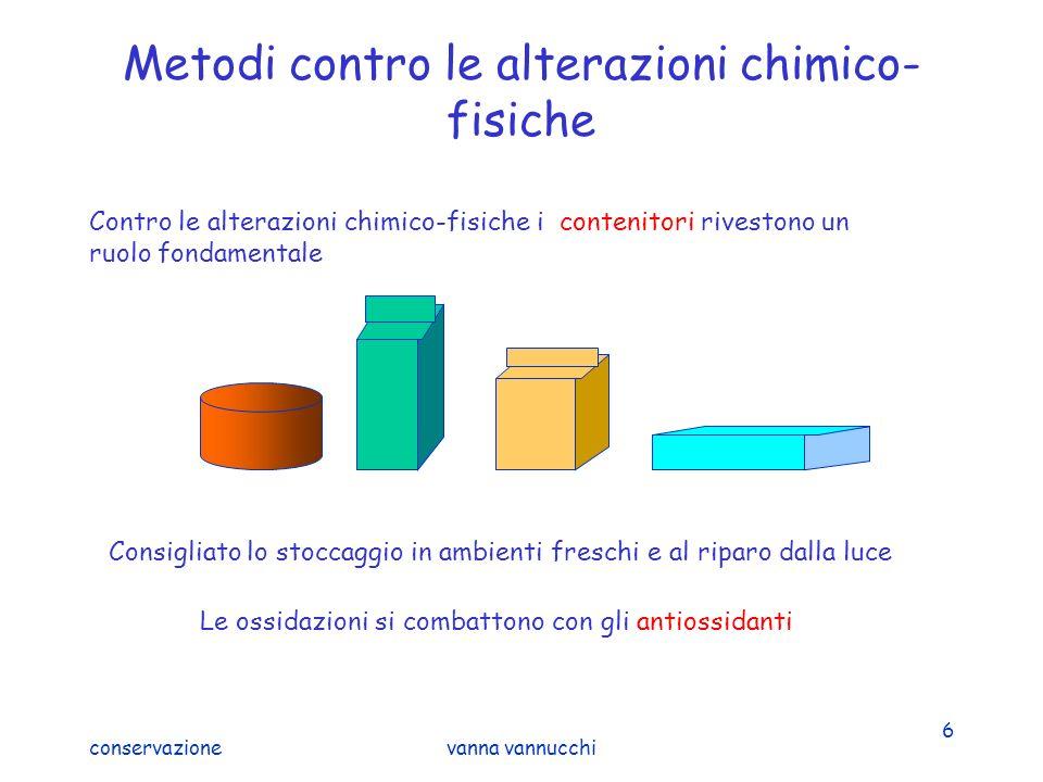 conservazionevanna vannucchi 6 Metodi contro le alterazioni chimico- fisiche Contro le alterazioni chimico-fisiche i contenitori rivestono un ruolo fo