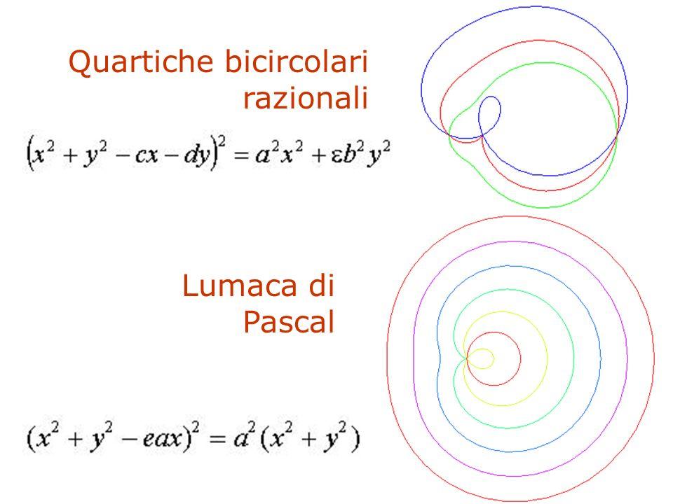 F. Gay – corso di fondamenti e applicazioni di geometria descrittiva aa. 2008-2009 Quartiche bicircolari razionali Lumaca di Pascal