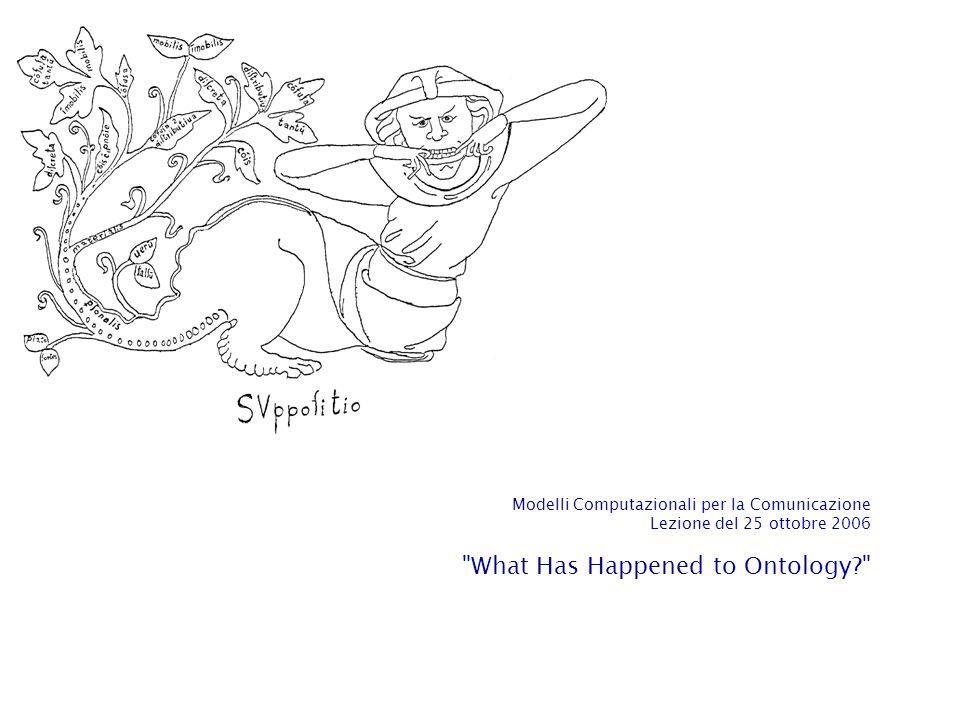 La domanda ontologica: Che cosa cè.